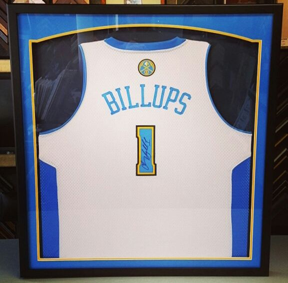 Custom framed Chauncy Billups jersey! Come see Denver\'s choice for ...