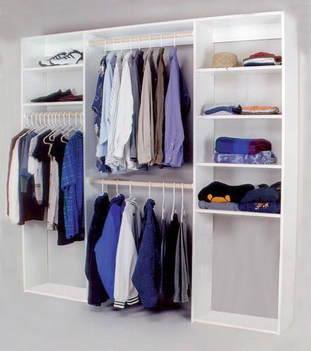 $194 8' Closet Organizer at Menards | Master Walk-in Closet idea ...