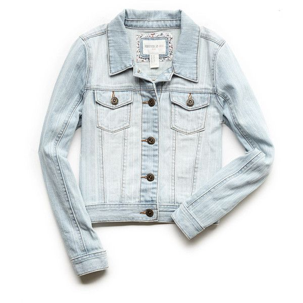 FOREVER 21 GIRLS Classic Denim Jacket (Kids) ($25) ❤ liked on Polyvore featuring jackets, kids and light denim