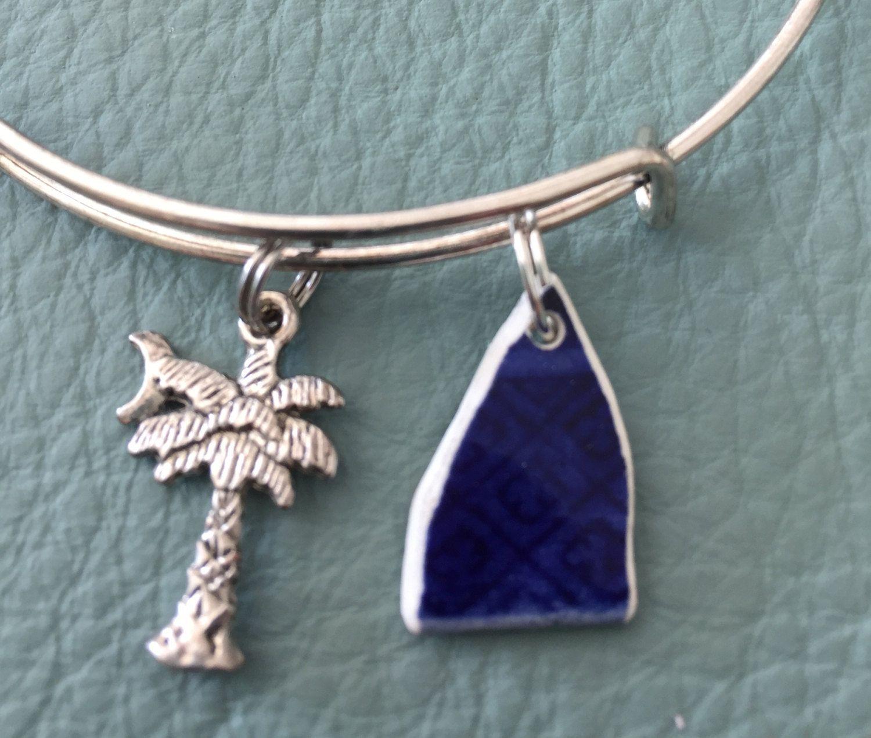 Historic Broken China South Carolina Silver Bracelet Inspired By Alex & Ani Charms  Charleston Sc Palmettro
