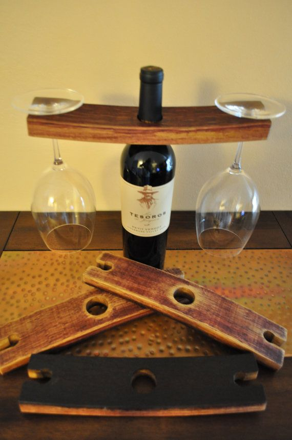 Recycled Wine Barrel Wine Glass Holder By Chilipepperwoodworks