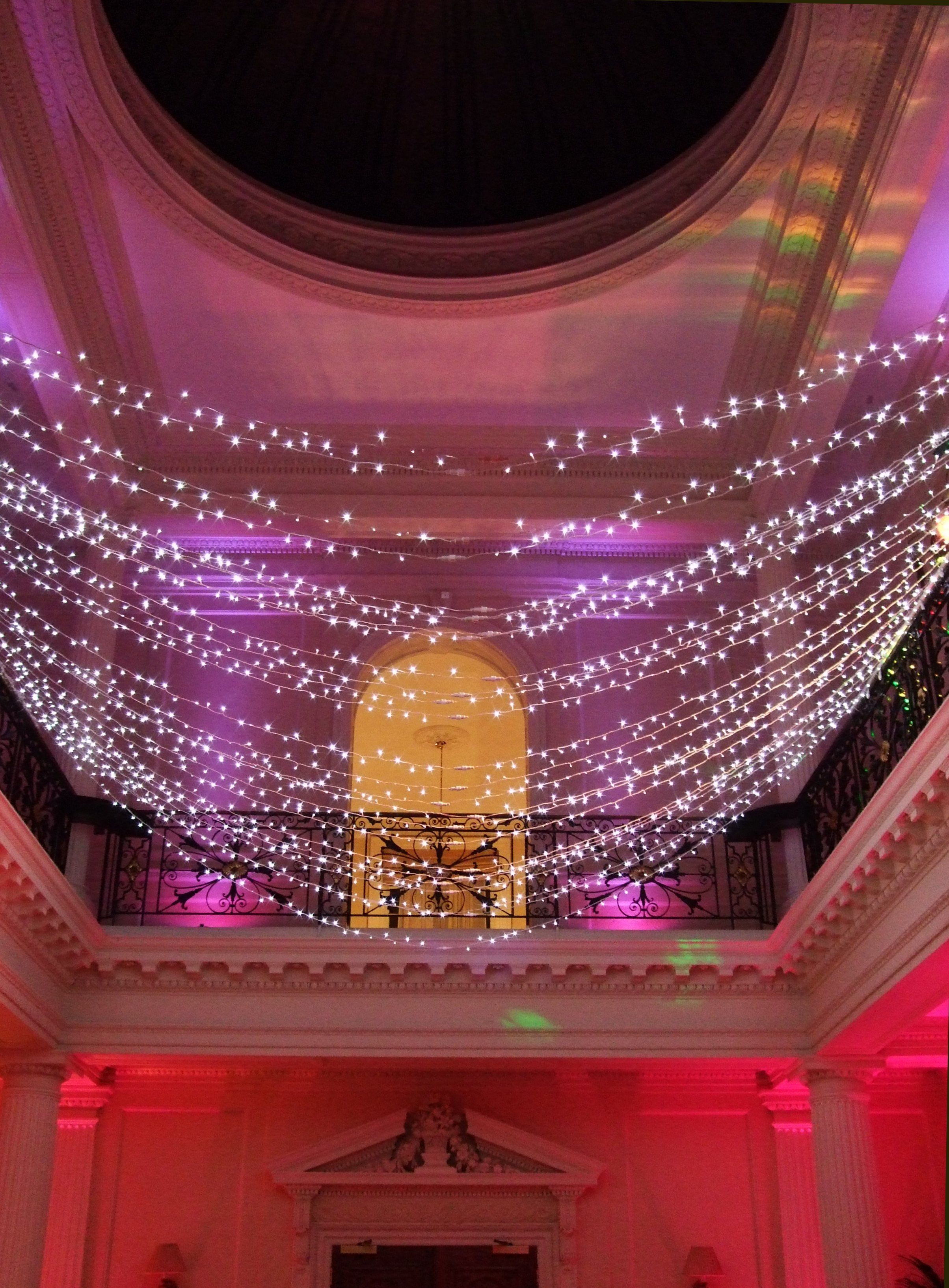 fairy light canopy at hedsor house | wedding: venues & design