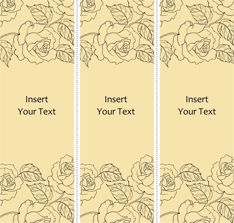 28 Free Bookmark Templates Design Your Bookmarks In Style Free