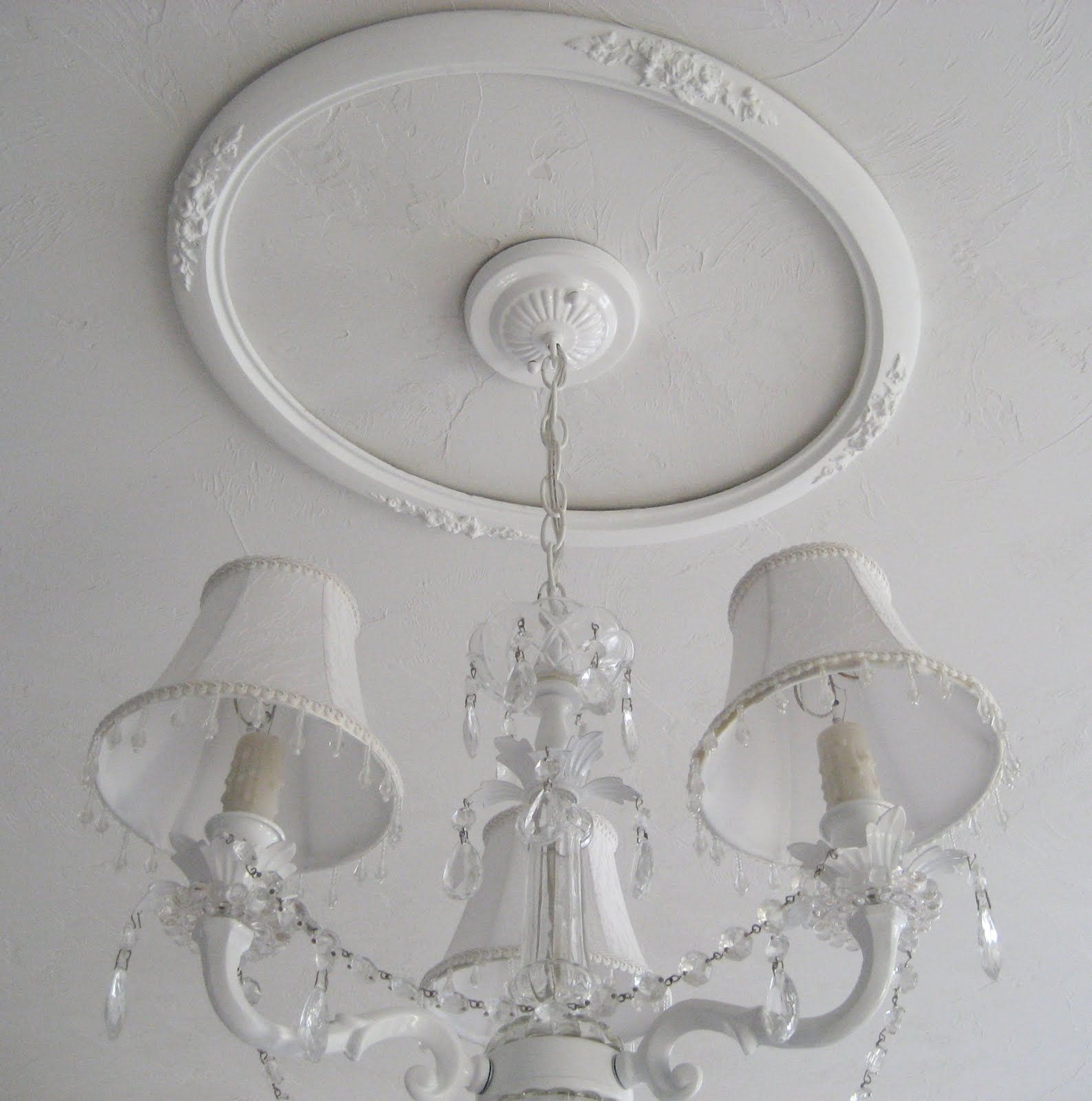 Tip Repurpose a picture frame into a ceiling medallion
