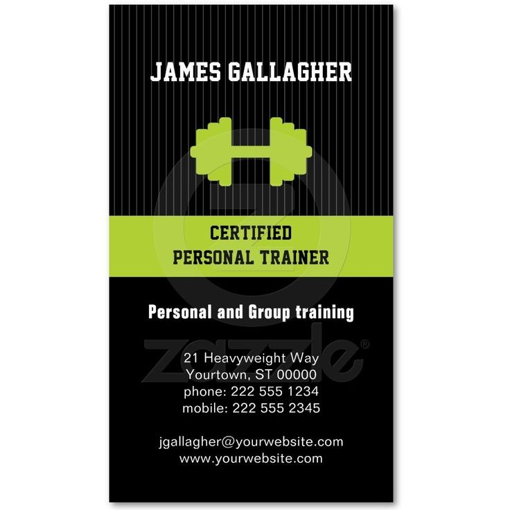 Awesome Personal Trainer Business Cards Ideas