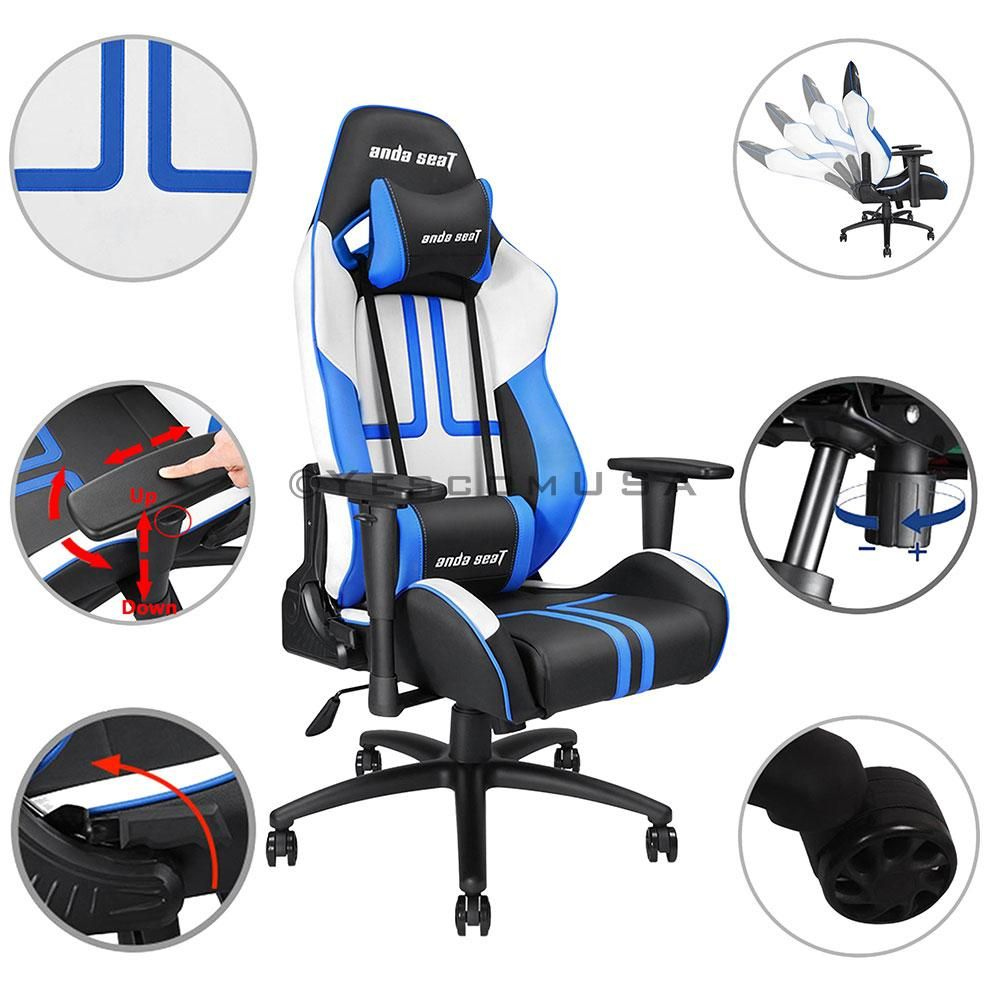 Anda seat d arms game chair highback ergonomic pillow cushion lbs