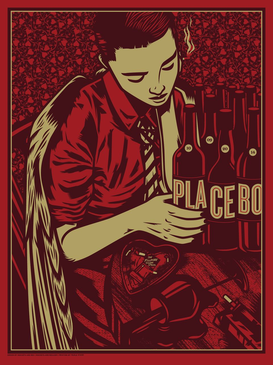 Lazy Labrador Records - Placebo · The Fillmore Silkscreen Poster · Rockets are Red, $34.99 (http://lazylabradorrecords.com/placebo-the-fillmore-silkscreen-poster-rockets-are-red/)