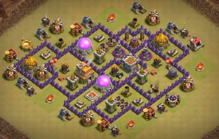 Best War Base Coc Th 7 Anti Dragon 6