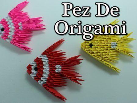 Origami D Origami Fish Pez Origami D Tutorial Origami 3d Shapes