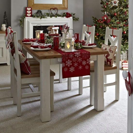 accesorios navideos para decorar la casa el comedor