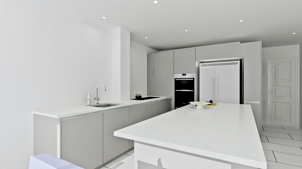 Lovely Grey High Gloss Modern Kitchen Design That Fits With Any Space! The Free 3D  Kitchen