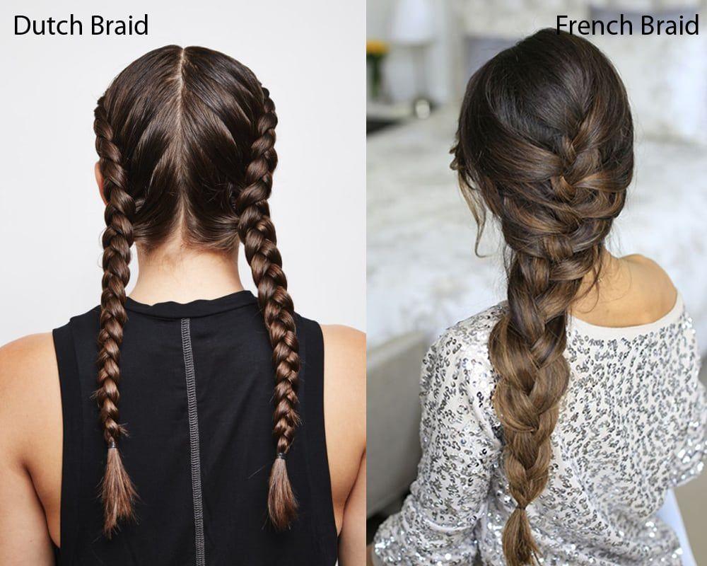 Dutch braid vs french braid u what are the differences hair