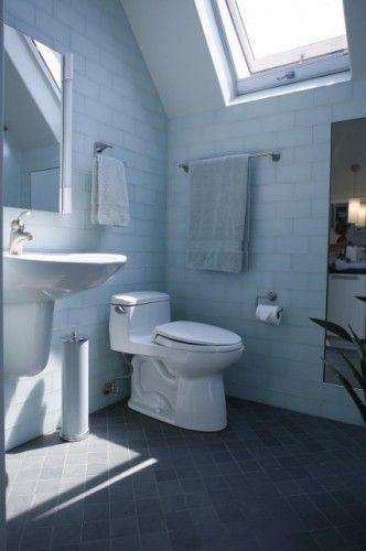 slate floor \/ subway tile walls Lodge Bar Pinterest - badezimmer modern schiefer