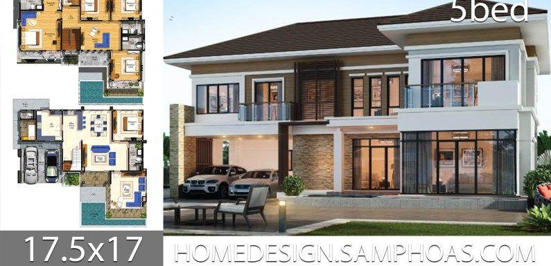 House Plans Idea 17 5x17 With 5 Bedrooms En 2020 Maison Moderne Maison Moderne