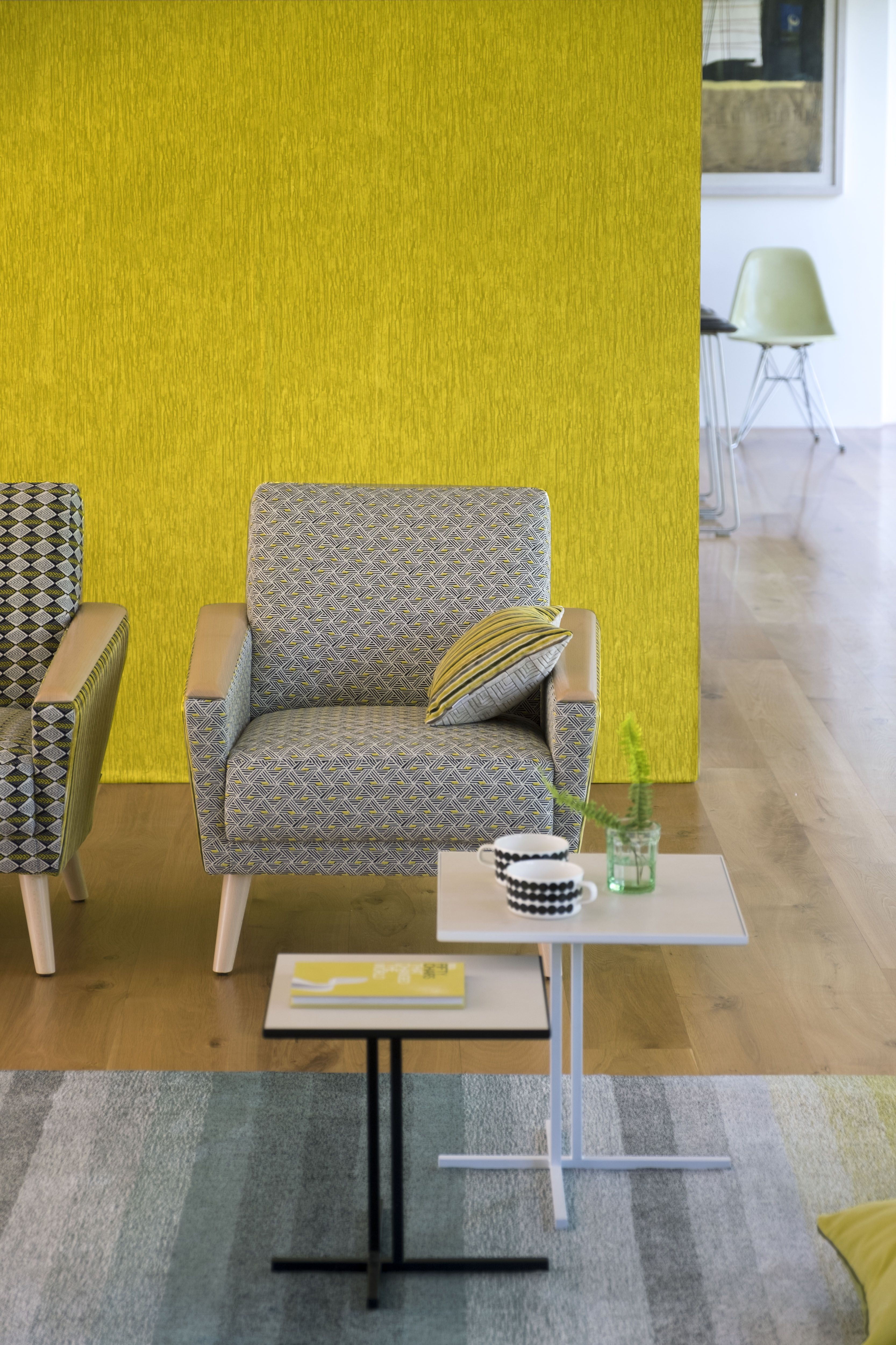 Sashiko textured wallpaper in Mimosa | Lemongrass | Pinterest ...