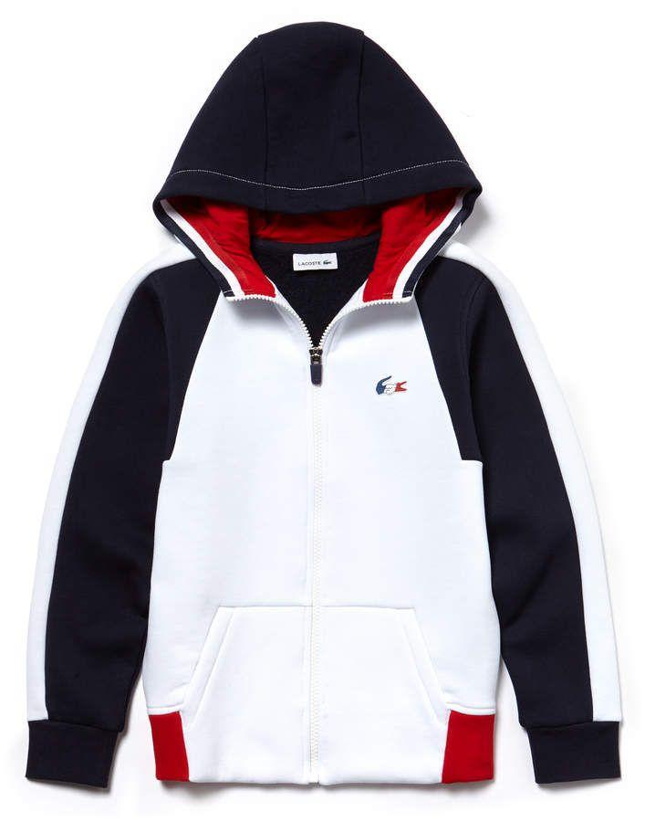 b43cd10488b49 Lacoste Boys  French Sporting Spirit Edition Colorblock Fleece Sweatshirt
