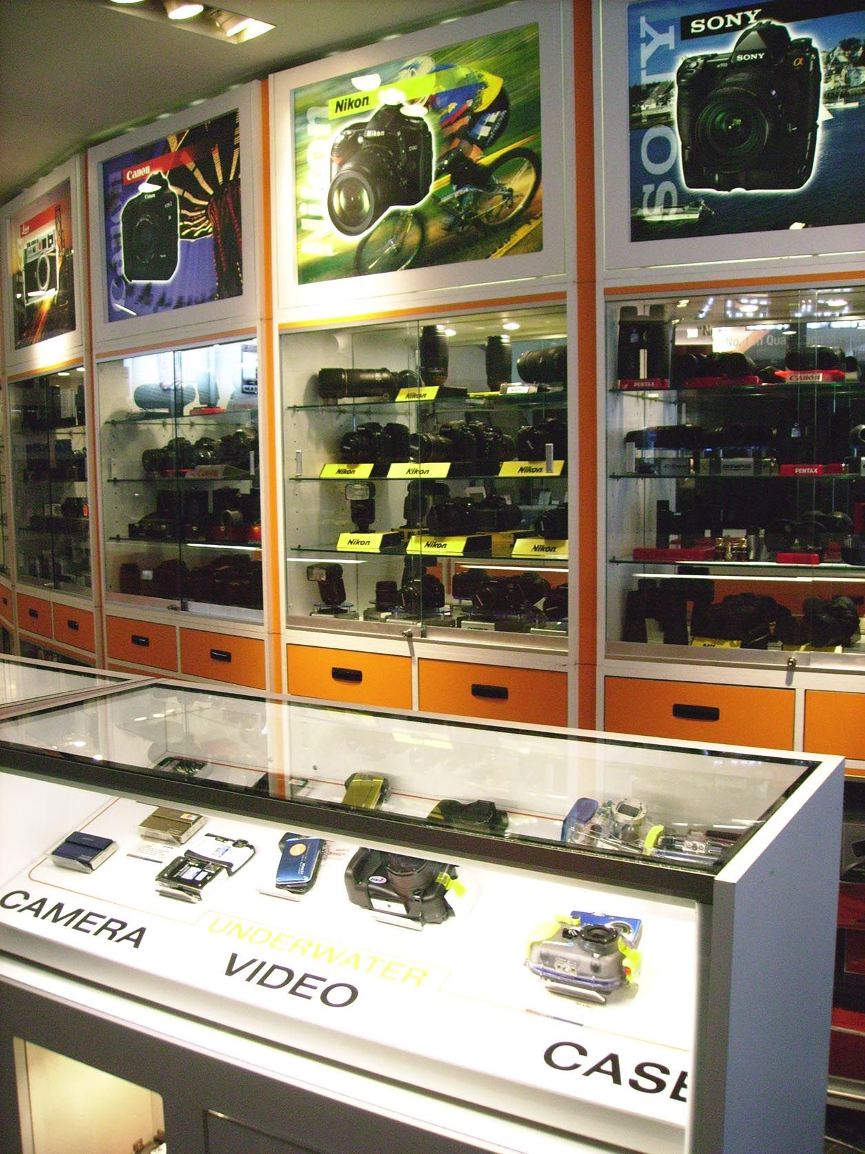 Camera Store Display Shelves