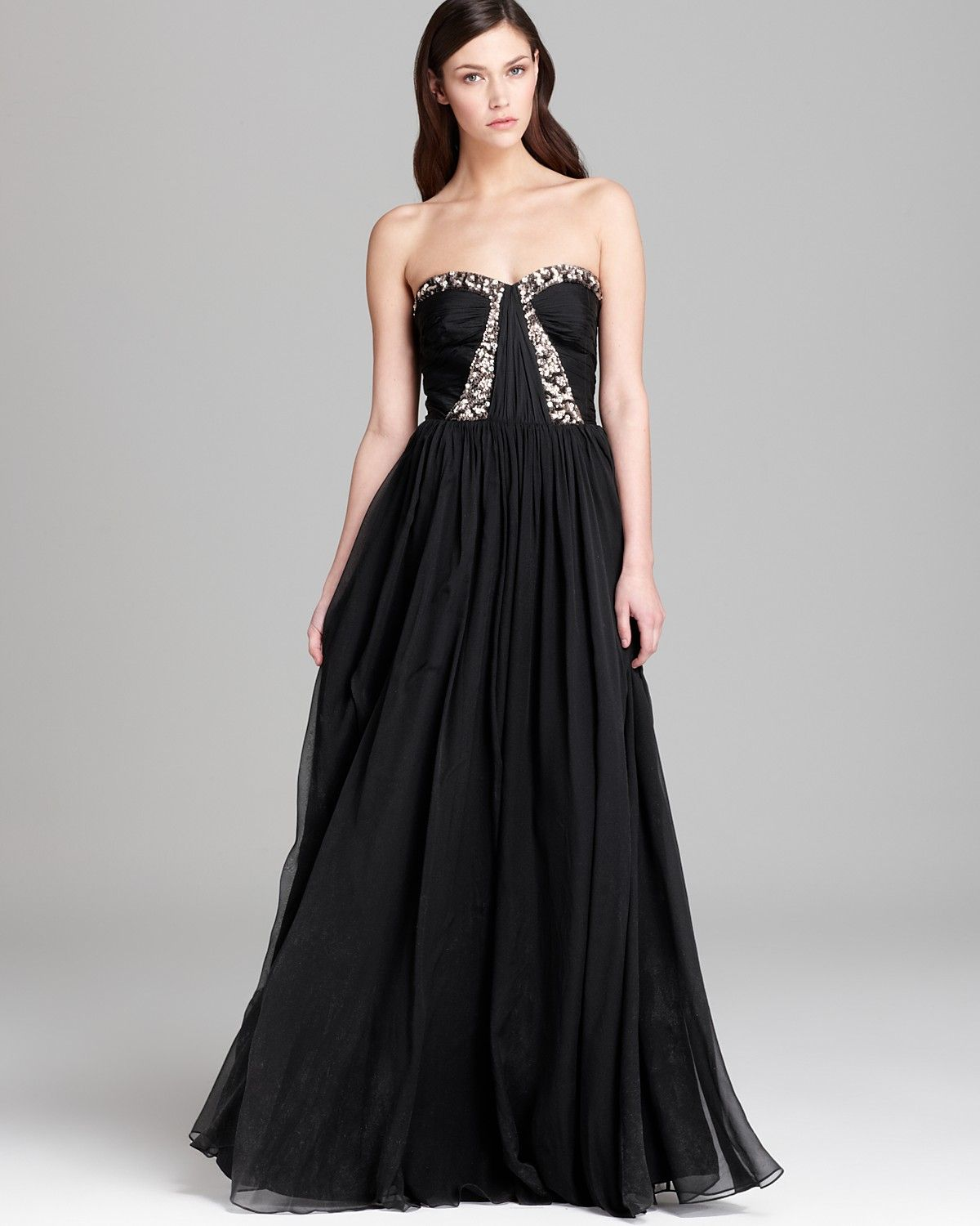 Rebecca Taylor Gown - with Floral Beading | Bloomingdales | Party ...