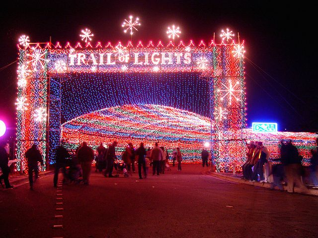 Entrance Front View Light Trails Trail Of Lights Austin Texas Travel