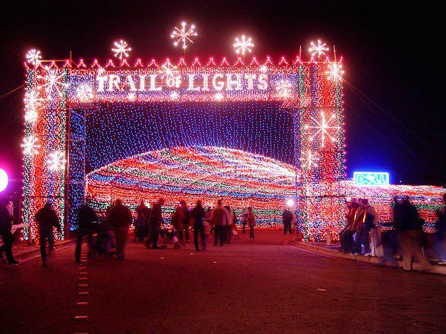 trail of lights at zilker park austin texas