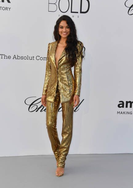Shanina Shaik arrives at the amfAR Gala Cannes 2018 at Hotel du CapEdenRoc  on May 17