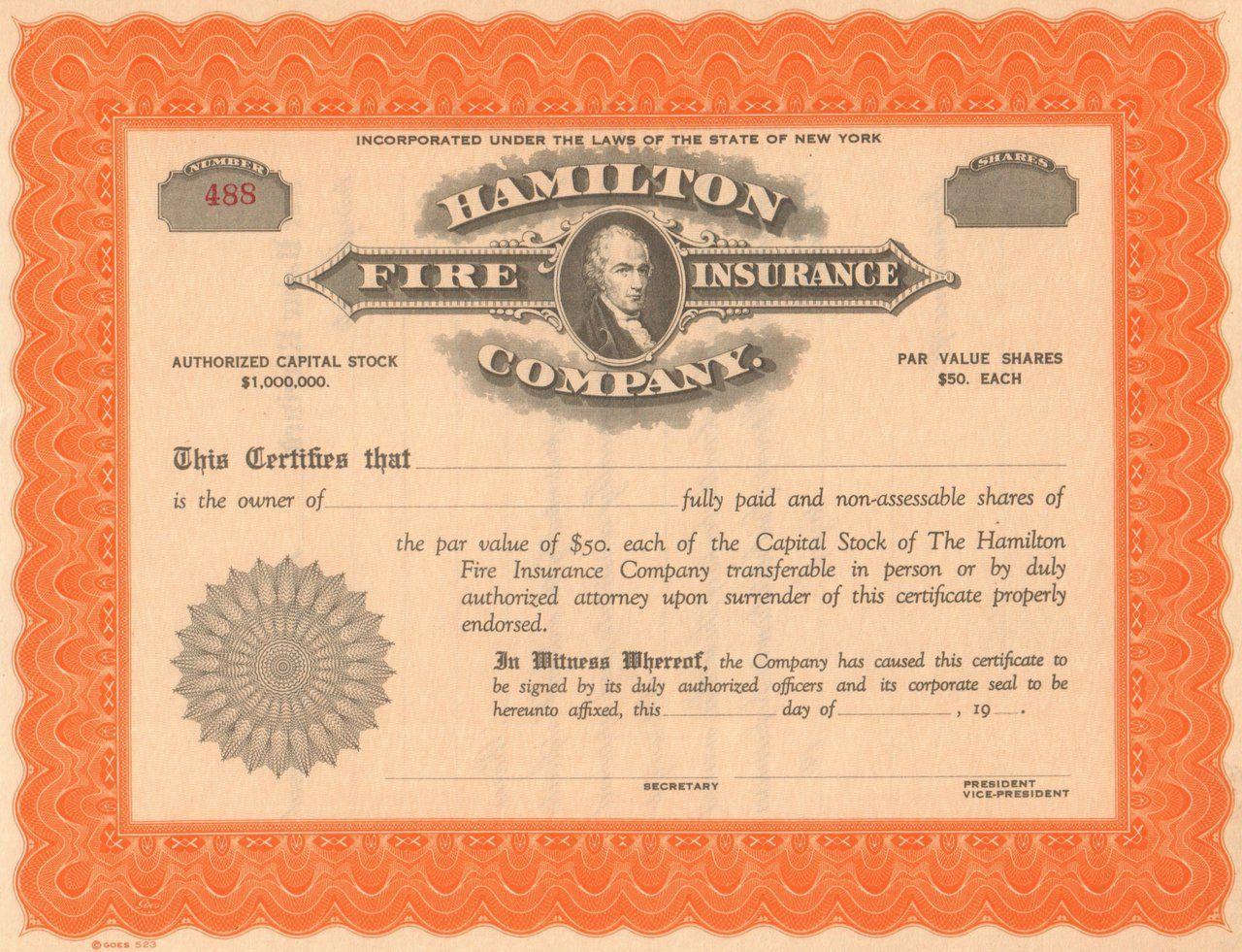 Hamilton Fire Insurance Company 1900s