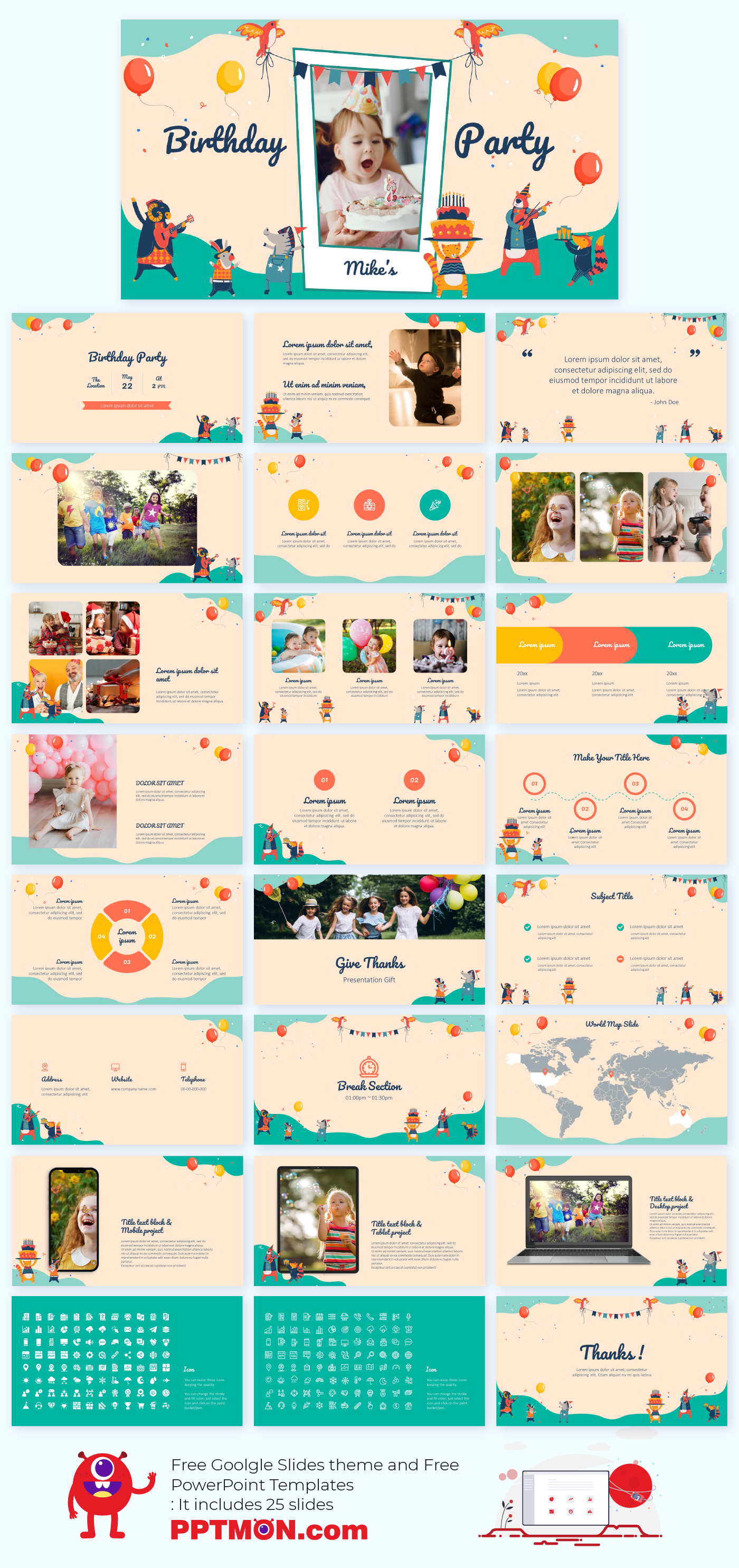 Birthday Card Free Google Slides Theme Powerpoint Template Cute Powerpoint Templates Powerpoint Design Templates Powerpoint Templates