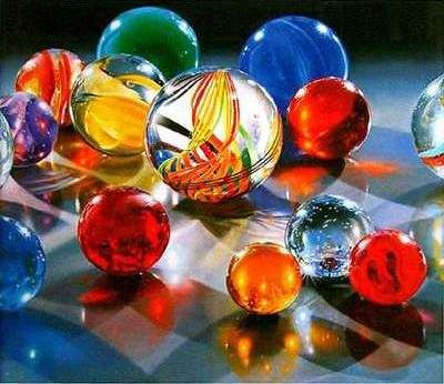 Art Marbles a HyperRealistic Painting by Steve Mills  Art