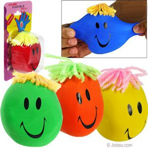 6 Stress Moody Faces Kids Party Bag Fillers Childrens Xmas Stocking Toy Prize