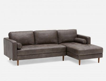 Simple Elegant KINSEY conors house Pinterest Lovely - Cool mid century modern leather sofa Ideas