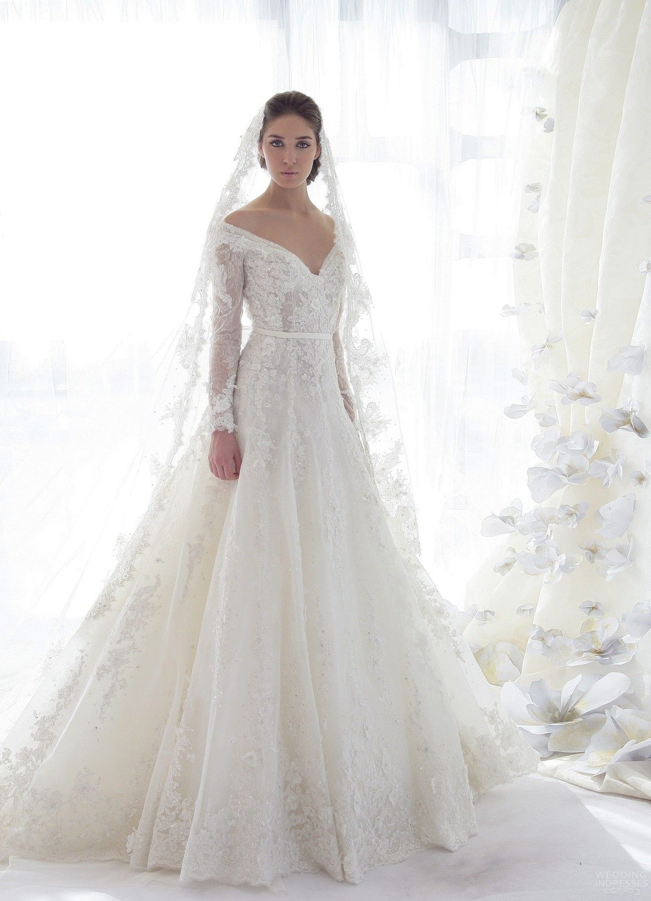 25 marvelous lace wedding dresses with sleeves ideas lace wedding lace wedding dresses with sleeves 15 junglespirit Image collections