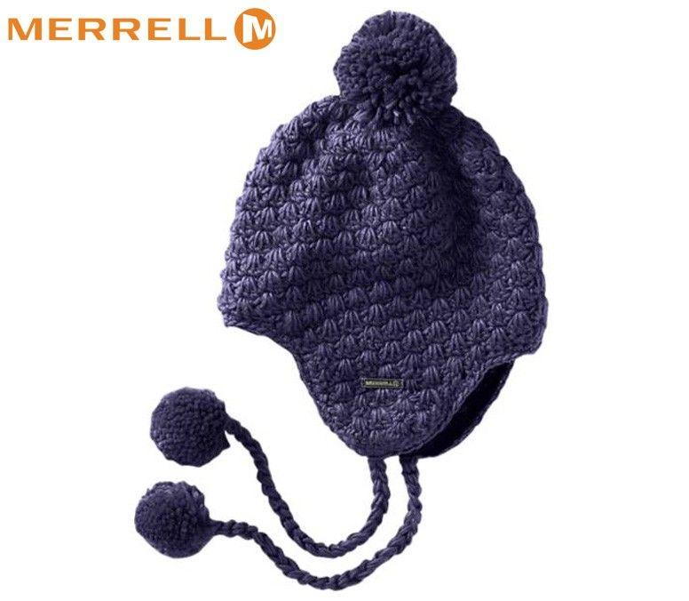 Merrell Ladies Kettle Chunky Knit Hat - Fig  c10cbfaeaba