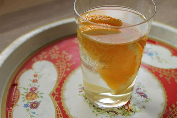 Orange and ginger water
