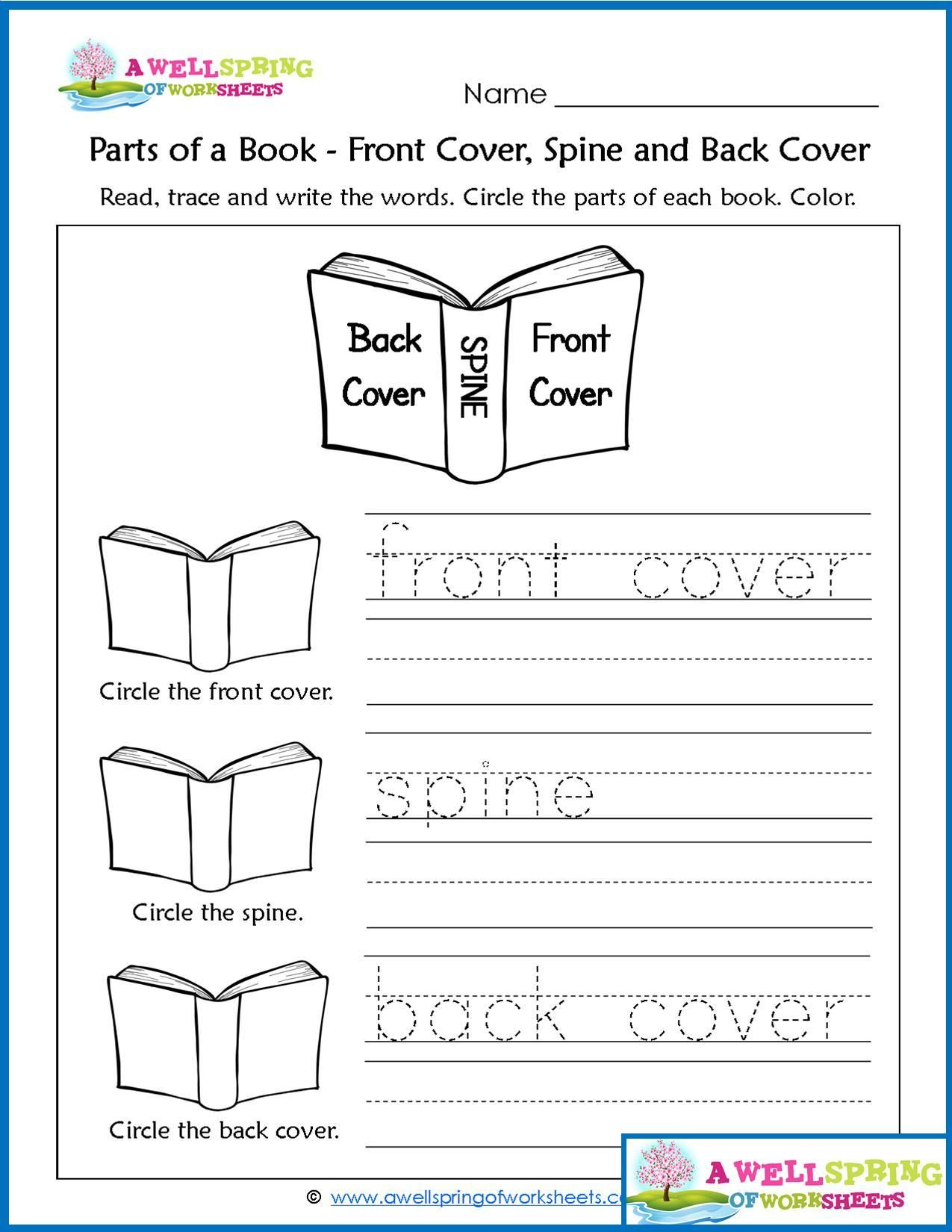 Kindergarten Book Review Worksheet