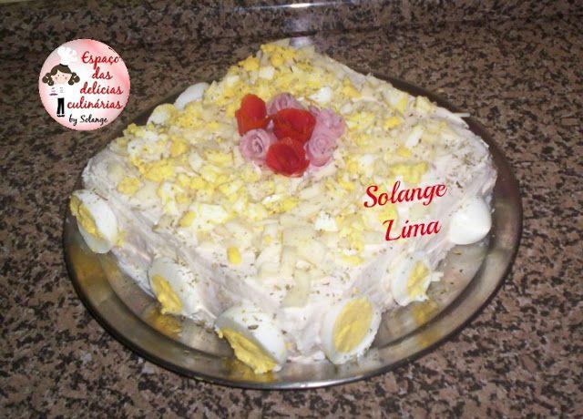 Torta fria com patê de atum e ovos - Espaço das delícias culinárias