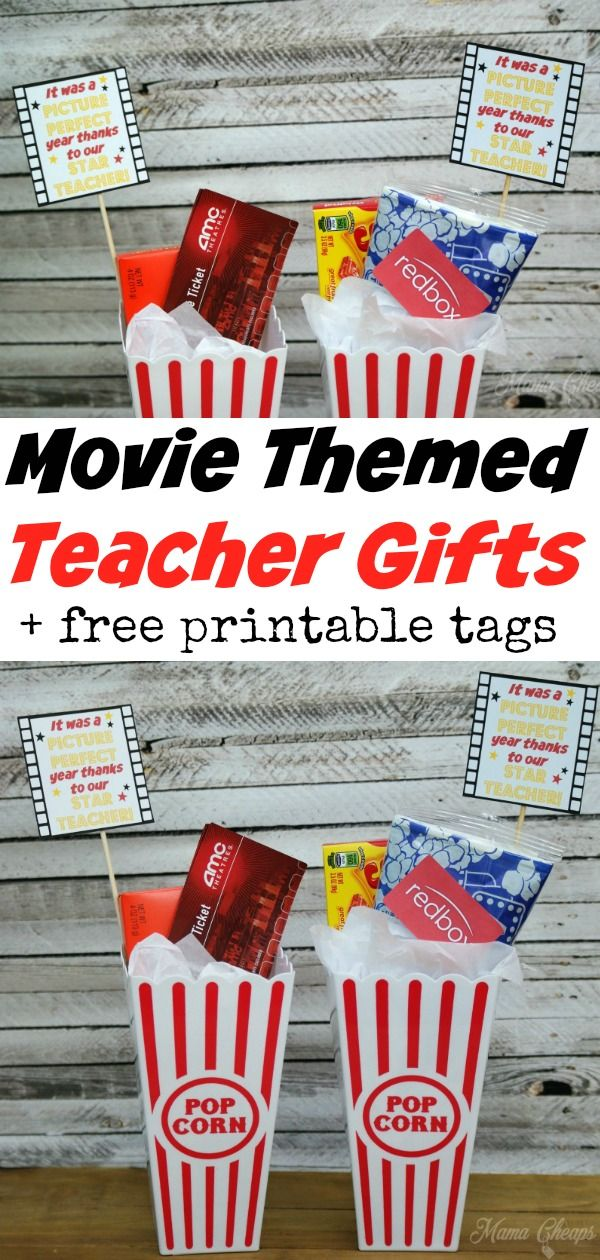Picture Perfect Star Movie Teacher Gift Idea + Printable