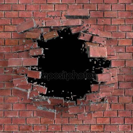 Pared De Ladrillo Roto Abstracto Fotografia Paisaje Disenos De Unas Foto 3d