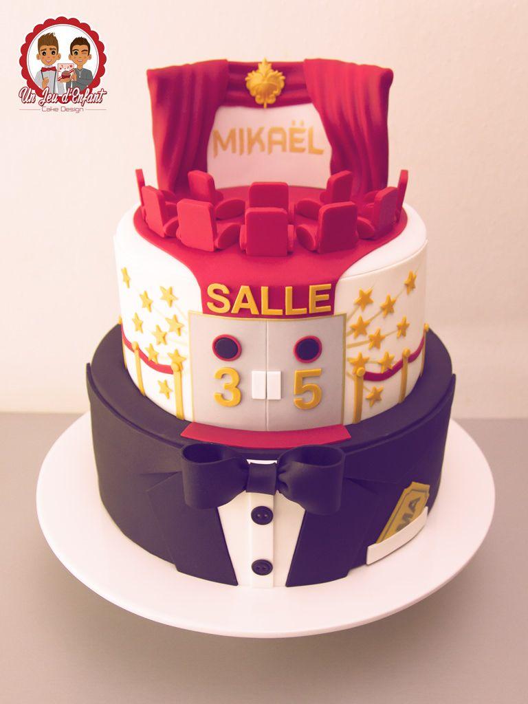 G teau th me cin ma movie cake suit stars un jeu d - Decoration anniversaire theme cinema ...