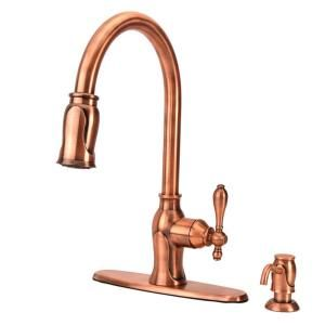 Chloe Single Handle Pull Down Kitchen Faucet With Soap Dispenser