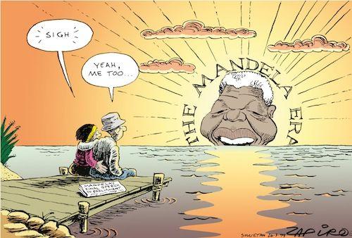 990326so Cartoonist Nelson Mandela Art Protest Art