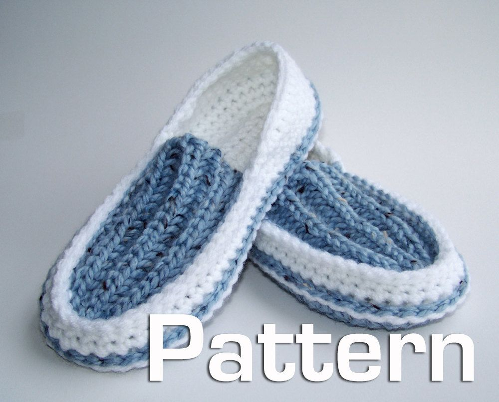 Mens Crochet Slippers Pattern Simple Decoration