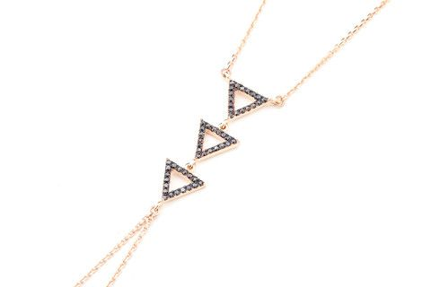 TRIANGLE Black Diamond Shamaran in 14K Gold