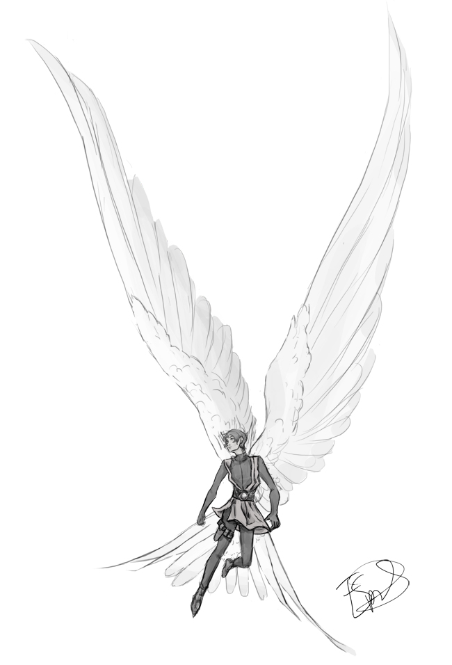 Winged Lance Sketch Day 4 By Perterto On Deviantart In 2020 Wings Drawing Wings Sketch Drawings With Meaning