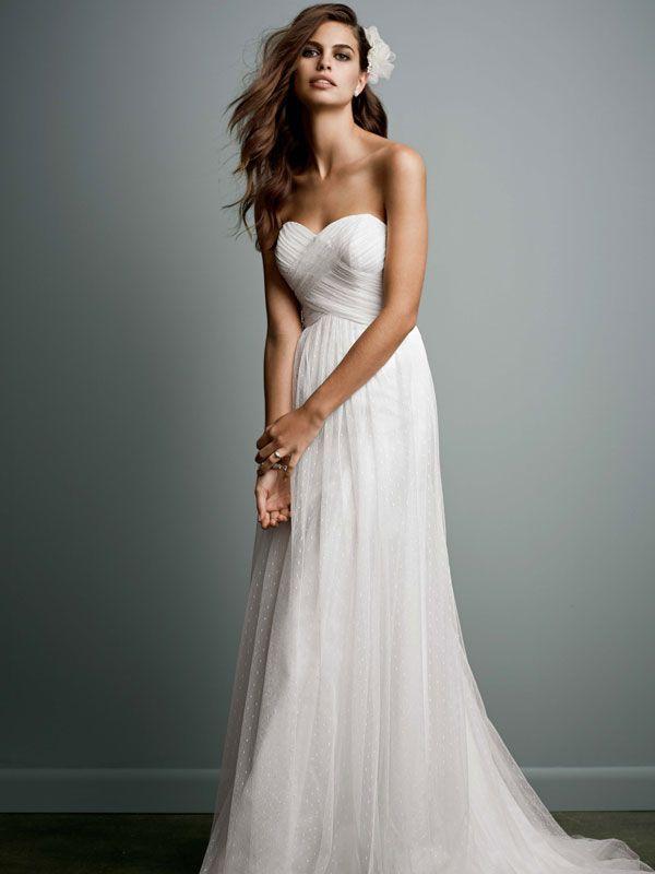 Empire Waist Flowing Wedding Dress