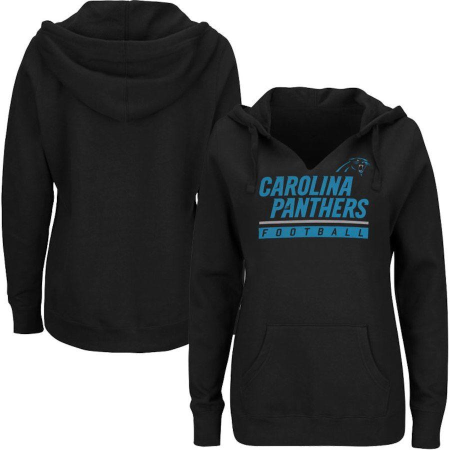 e6df304b134 Carolina Panthers Majestic Women s Plus Size Self Determination Pullover  Hoodie - Black