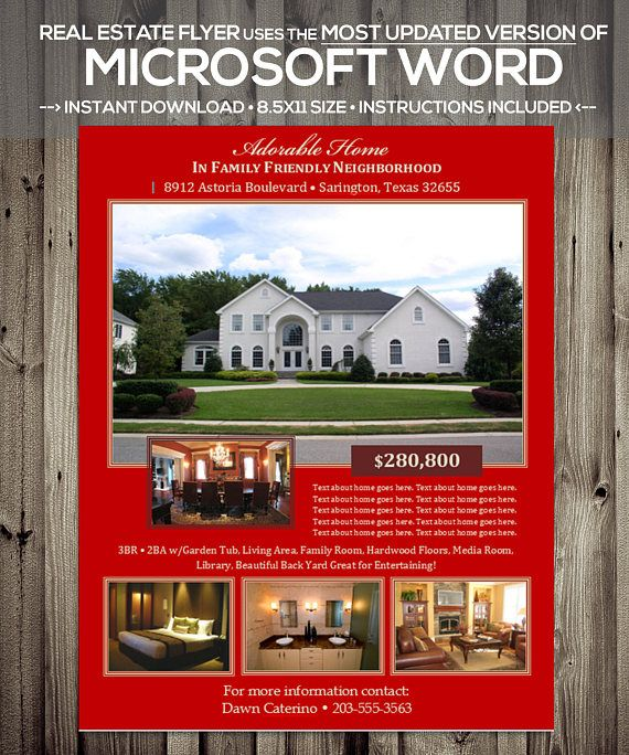 Printable REAL ESTATE LISTING FLYER Real Estate Listing Flyer - flyer templates for microsoft word