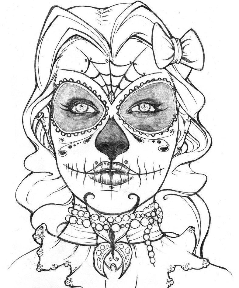 35 Imagenes De Catrinas Para Imprimir Y Colorear En Casa Catrinas10 Dibujos Para Colorear Adultos Paginas Para Colorear Dibujo Dia De Muertos