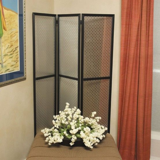 DIY room divider w decorative sheet metal from Home Depot | DIY for