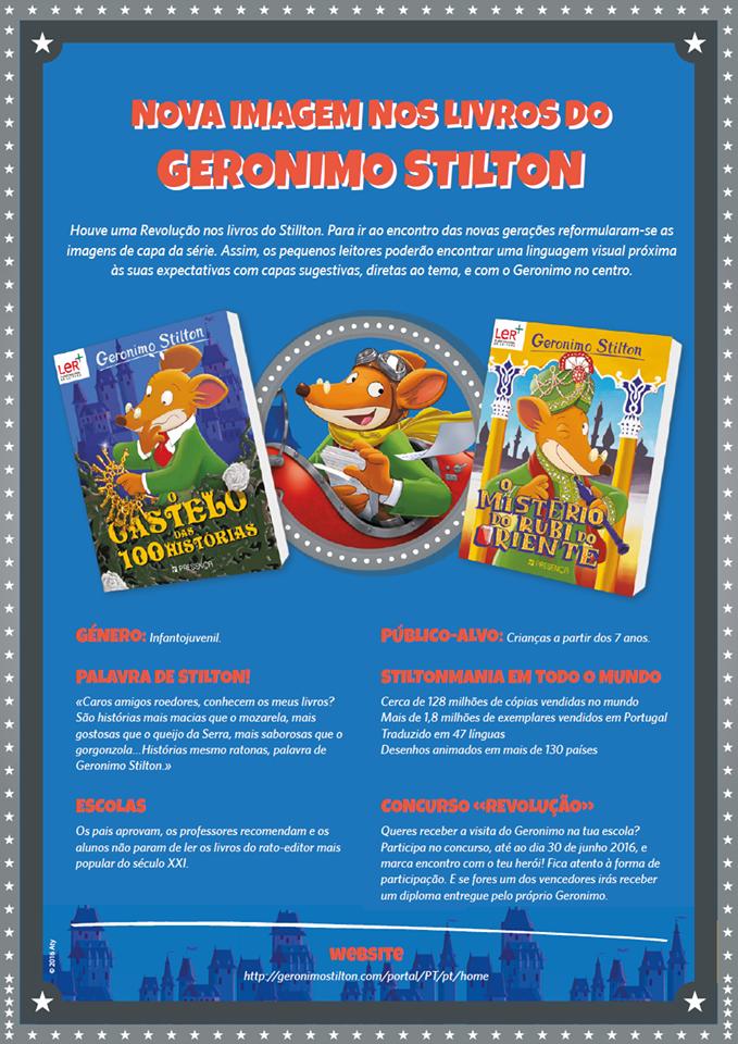 Nova imagem nos livros do Geronimo Stilton