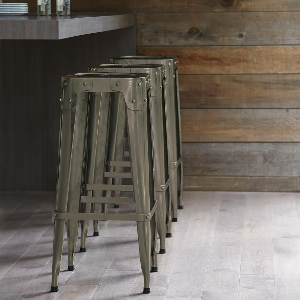 Des Idées De Bar Moderne Pour Votre Maison: Atelier Industrial Metal Bar Stool